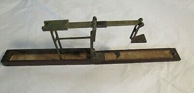 1700-1800s Wilkinson Antique Guineas Scale Old Wood Brass Ormskirk Very RARE