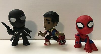 Spiderman Into The Spiderverse Mystery Mini Noir, Miles Morales & Spider-Man