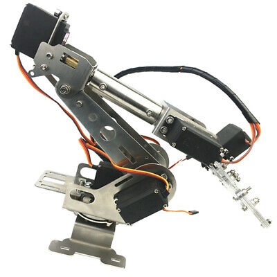 Stainless Steel DIY 6-DOF Remote Control Robot Arm for Arduino Learning