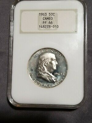 1963 Franklin Silver Half Dollar NGC Certified PF66 Cameo