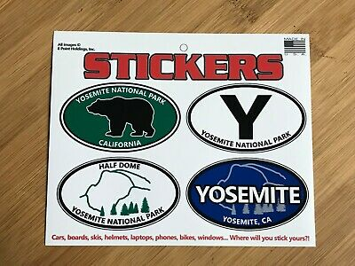 Yosemite National Park oval sticker decal sheet travel Sierra truck SUV laptop