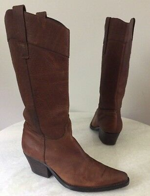 92bf3ad50ce GUESS BY GEORGES Marciano VTG Animal Ankle Western Brown Cowboy ...