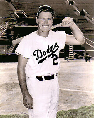 "Chuck Connors The Brooklyn Dodgers 1949 8X10"" Hand Color Tinted Photo"