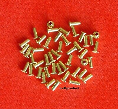> 50x Copper Alloy Brass Eyelet 2x6mm for Soldering Connection e