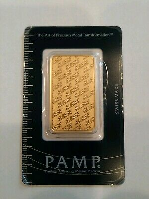 1 oz PAMP Suisse Gold Bar (PAMP Design, New w/ Assay)