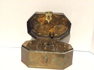 Old Antique Brass Hand Made Rare Mughal Islamic Heavy Betel Nut Pandan Box