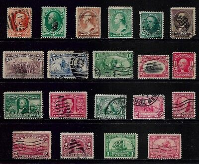USA mixed early collection, from 1870, used