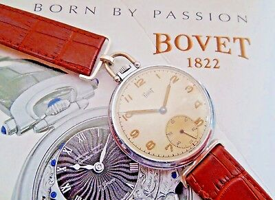 ANTIQUE 1940s BOVET(1822) SWISS MADE 17 JEWELS TRIPLE SIGNED