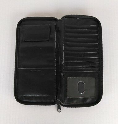 """DOPP 9"""" Travel Documents / Credit Cards / ID Organizer Wallet Leather Black"""