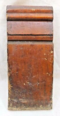 1800's Antique Wooden PLINTH BLOCK Door Molding Trim VICTORIAN Style Fir ORNATE