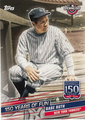2019 Topps Opening Day 150 YEARS OF FUN YOF-5 Babe Ruth
