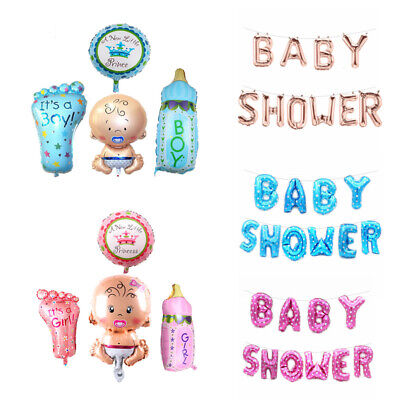 New Baby Shower Christening Balloons Helium Foil Balloon Birthday Party Boy Girl