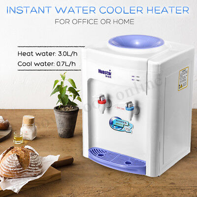 220V Table Top Warm and Cold Water Cooler Dispenser 3L/h Household Home