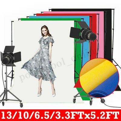 5x3FT - 5x13FT Photography Backdrop Background Studio Photo Prop Solid Color