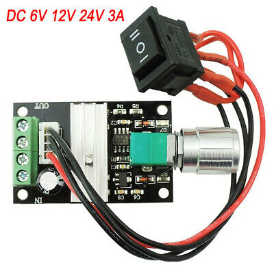 DC 6V 12V 24V 3A Reversible Motor Speed Controller Regulator Driver Switch PWM