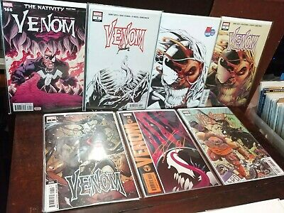 Venom Lot 165 First Baby Symbiote Vol4 #3 Knull, 7 Dylan 11,Signed Cates Variant