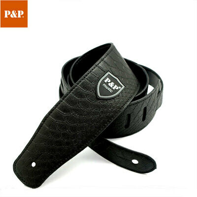 PU Leather Guitar Strap Belt Outdoor for Electric Band Snake Adjustable Bass US