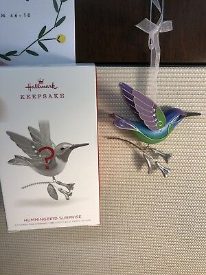 NEW 2018 Hallmark Hummingbird Surprise Green Jewel Tone REPAINT Beauty Birds