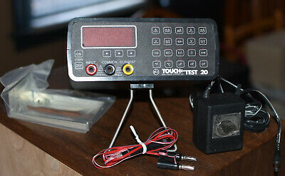 NLS Voltmeter, rare, Touch Test TT20B, battery & AC, works on all ranges, case