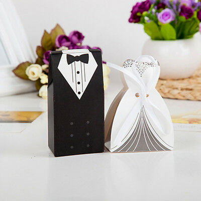 10pcs Bride and Groom Candy Box for Wedding Sweet Bag Wedding Favors Gifts Hot