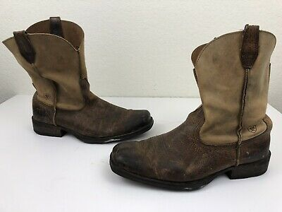 22a9faa273f ARIAT MENS RAMBLER Square Toe Boots Size 15 D Brown Leather ATS