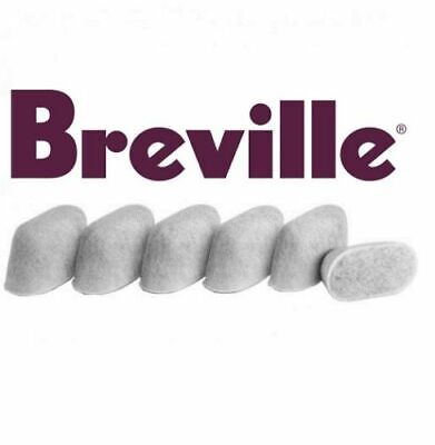 NEW GENUINE 6x Breville BWF100 Charcoal Replacement Water Filters Coffee Machine