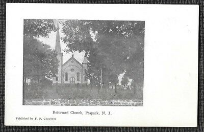 Early 1900'S. Reformed Church. Peapack, New Jersey. Postcard M3