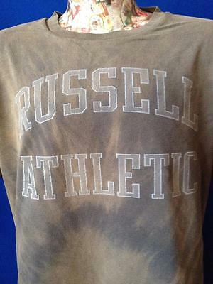 Vintage Russell Athletic Faded Lined Reversible Looks Like Tie Dye T Shirt L