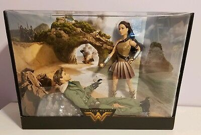 Barbie Wonder Woman Paradise Island Giftset, Steve Trevor Princess Diana 12IN -A