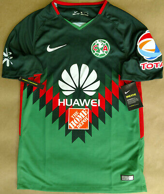 reputable site 8a0aa a9ce5 NIKE CLUB AMERICA JERSEY Fourth Green 2018 SHORT SLEEVES AUTHENTIC  AJ3781-354.