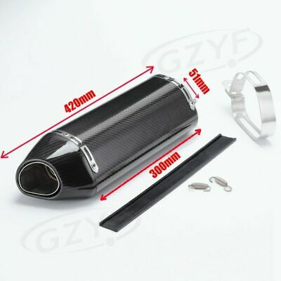 Universal Motorcycle 51mm Exhaust Muffler Pipe Silencer Slip on Exhaust System
