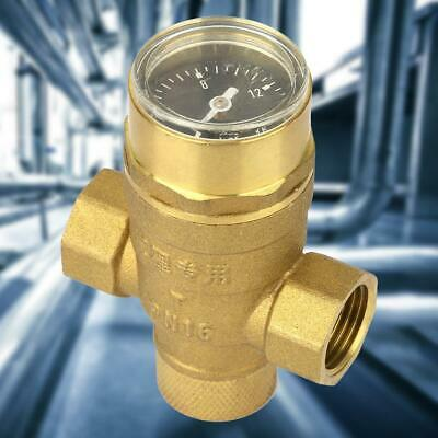 "1/2"" Single Direction Water Adjustable Pressure Reducing Valve with Guage Meter"