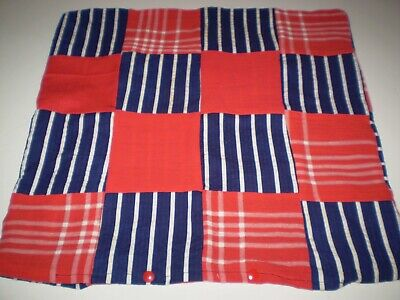 Red & Blue Patchwork Cushion Cover