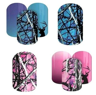 Jamberry Nail Wraps ~ HALF SHEETS ~ UNDERTOW CAMO & MUDDY GIRL Outdoor Series