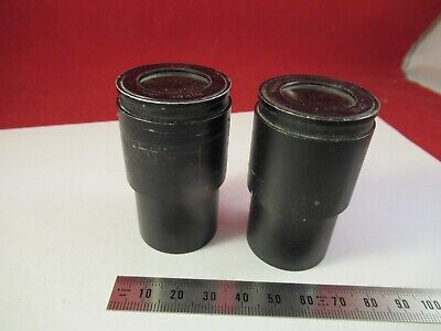 NIKON 10x/21 JAPAN PAIR MICROSCOPE PART EYEPIECE OPTICS AS PICTURED &8-A-23