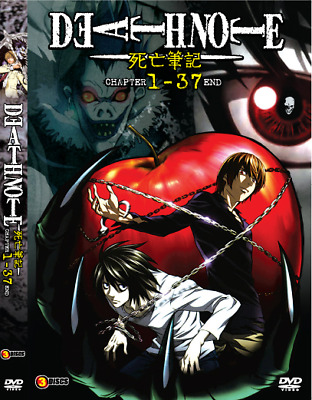 DVD Death Note Episode 1 - 37 END Dual Audio English Dubbed. All Region