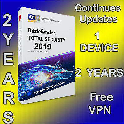 Bitdefender Total Security 2019 - 2 Years - 1 Device Activation - Download