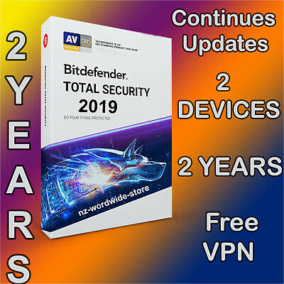 Bitdefender Total Security 2019 - 2 Years - 2 Devices Activation - Download