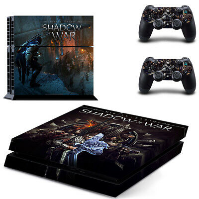 Playstation 4 PS4 Console Skin Decal Sticker Shadow of War T2+ 2 Controller Skin