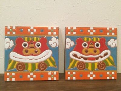 Japan Okinawa Limited Shisa tile Gift celebration Present Lucky goods F/S