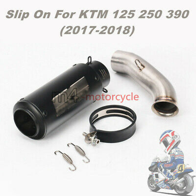 For KTM 125 250 390 Exhaust Muffler Pipe Slip On 51mm Mid Tail Escape 2017 2018