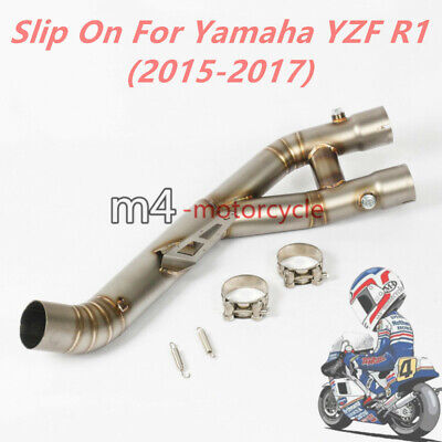 Middle Connect Link Y Pipe For 2015 2016 2017 Yamaha YZF R1 Exhaust System