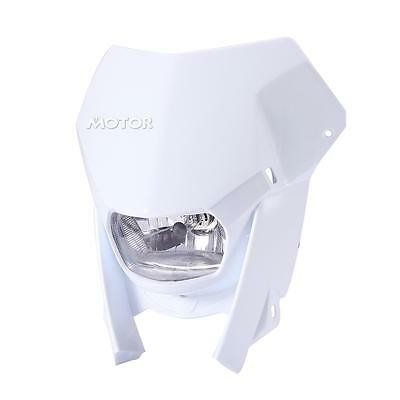 White Headlight Dirt Bike Headlamp Street Fighter Front Light Fit Motorcycle T