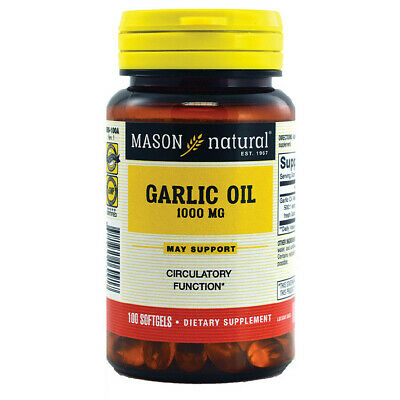 Mason Natural, Garlic Oil, 1000 mg, 100 Softgels
