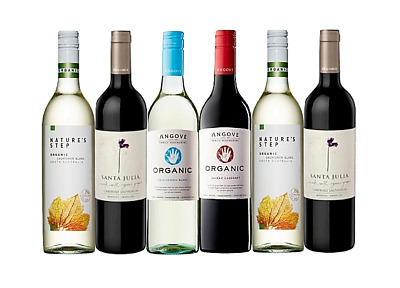 Mixed Organic Red & White Wine Trial Pack 6 x 750mL - FAST & FREE SHIPPING
