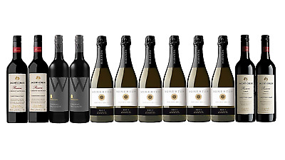 Mixed Reserve Red & White Wine Trial Pack 12 x 750mL - FAST & FREE SHIPPING