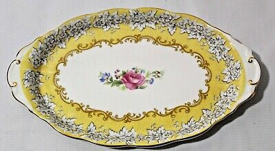 "Royal Albert Rare Affection  Bone China Oval Tray 10 3/8"" Vintage 1997"