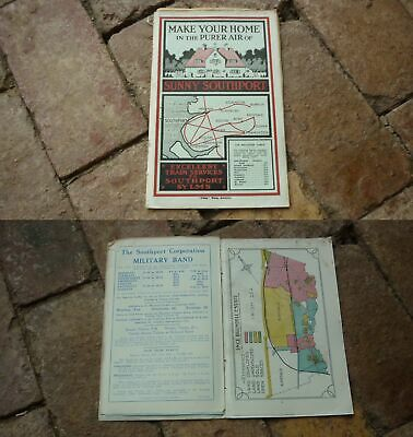 1930s SOUTHPORT ENGLAND, 'SUMMER SOUTHPORT' ADVERTISING BROCHURE, 10 PAGES