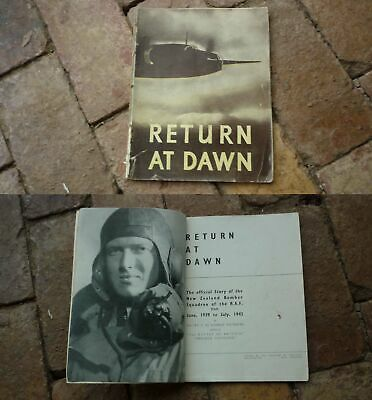 1940s WWII NEW ZEALAND AIR FORCE BOMBER SQUAD MILITARY BOOK, RETURN AT DAWN,