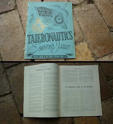 1940s WWII NEW ZEALAND AIR FORCE MILITARY, TAIERONAUTICS MAGAZINE, 20 PAGES